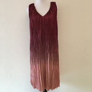 Sundance Ombre V Neck Pink Shift Dress Size Medium